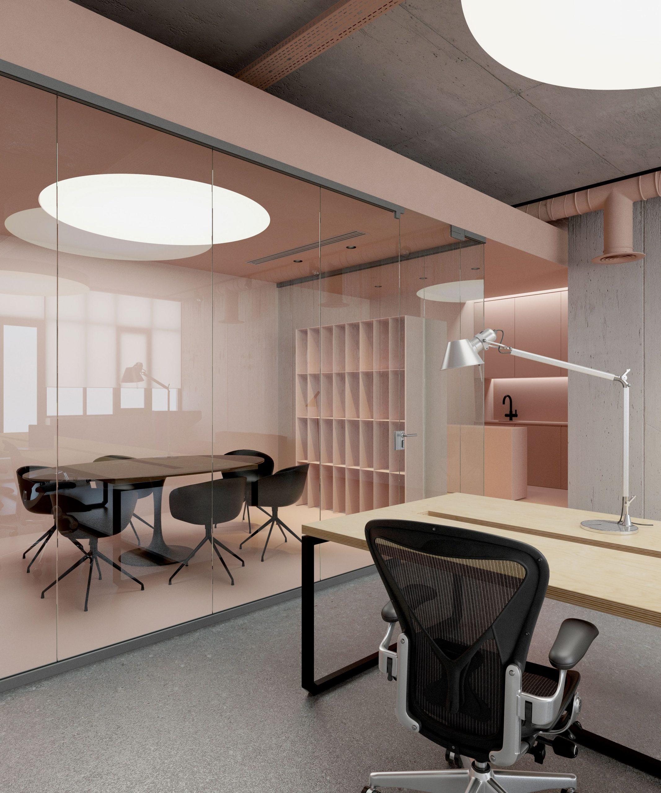 Neutral Nudes Office Design
